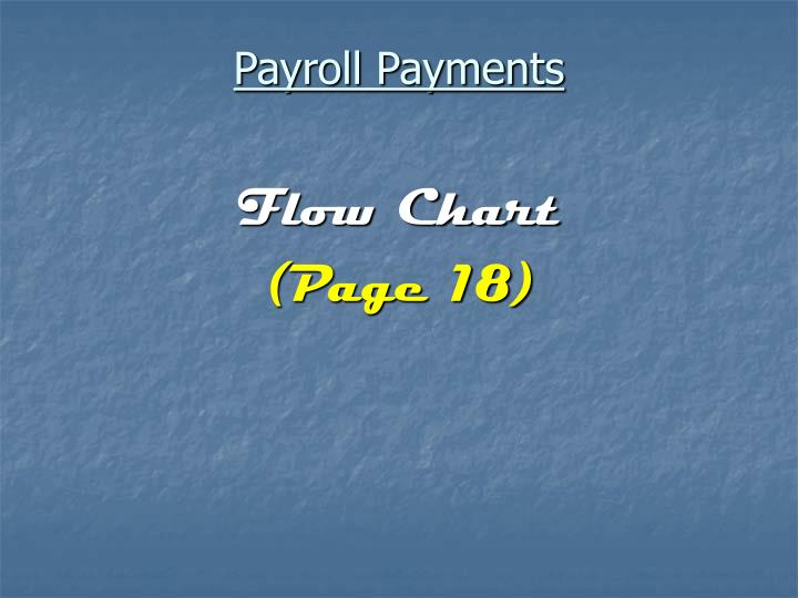 Payroll Payments