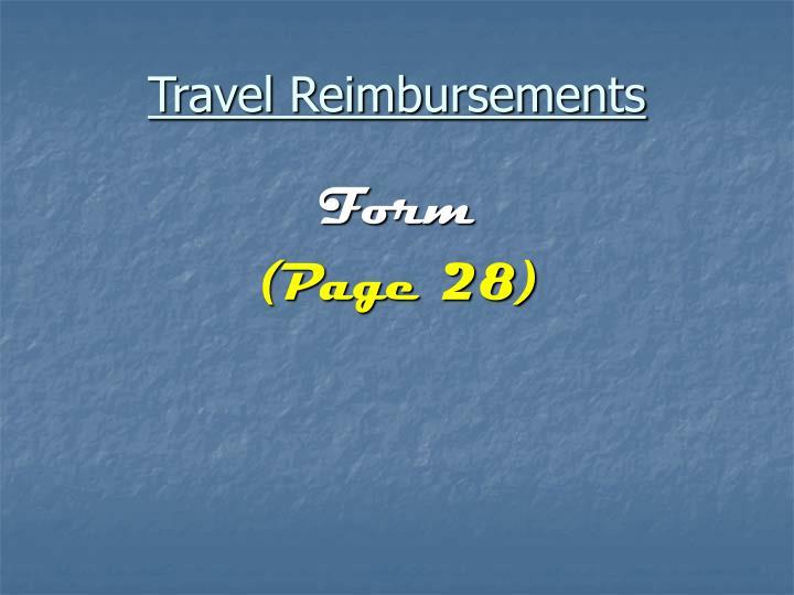 Travel Reimbursements