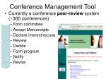 conference management tool