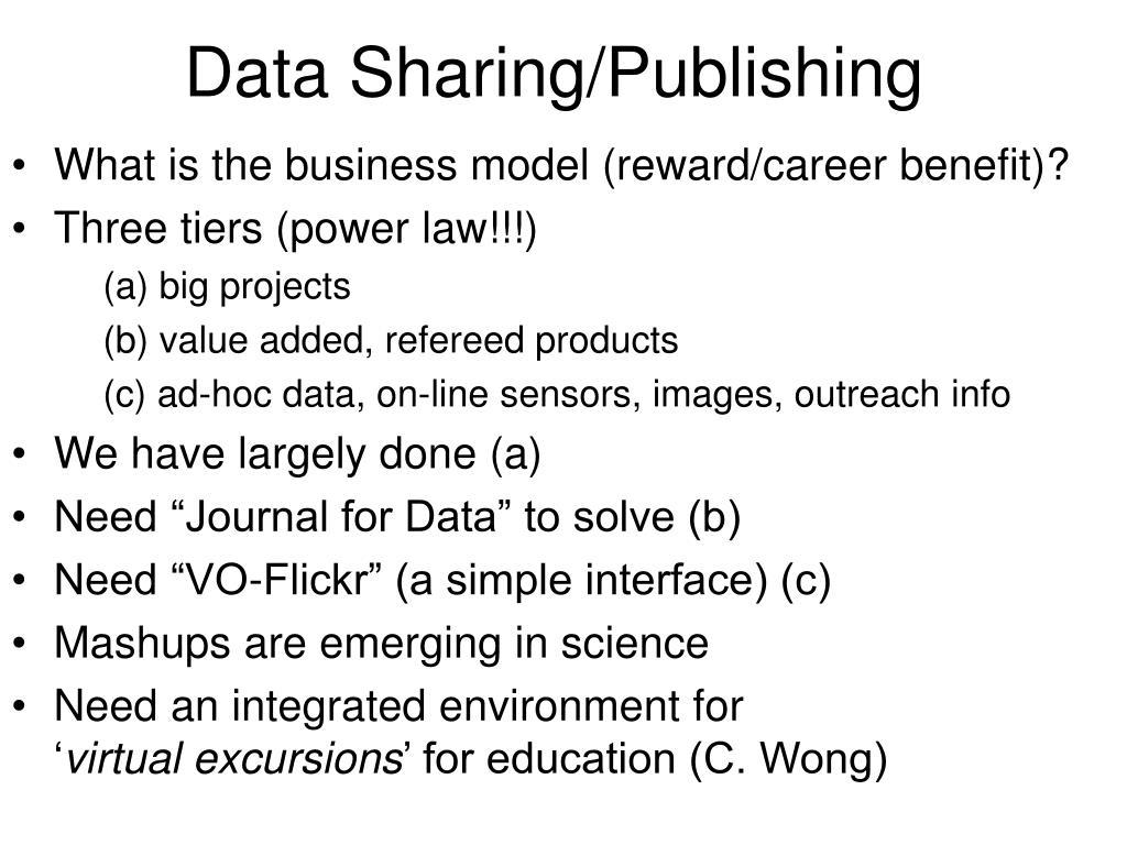Data Sharing/Publishing