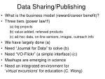data sharing publishing