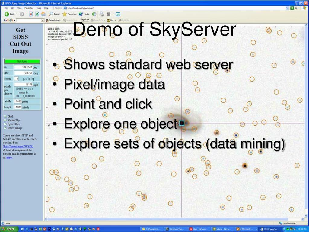 Demo of SkyServer