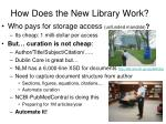 how does the new library work