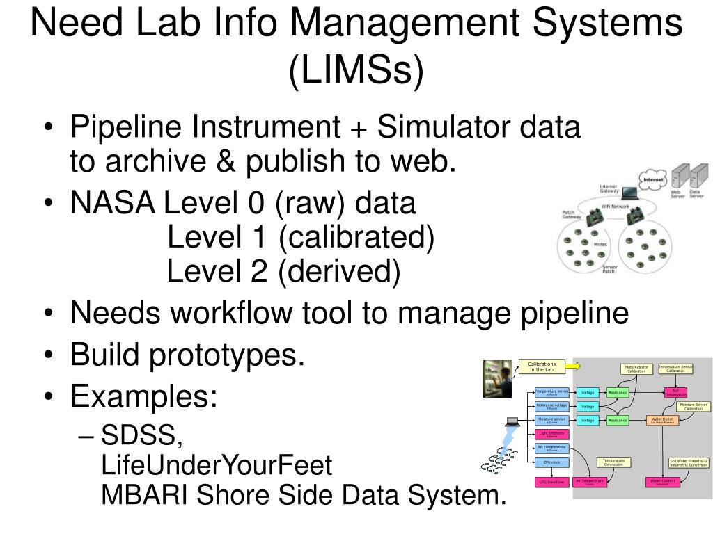 Need Lab Info Management Systems  (LIMSs)