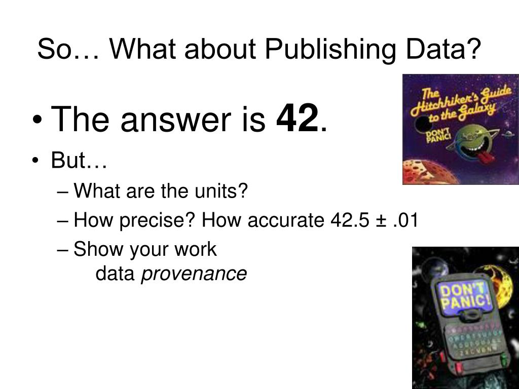 So… What about Publishing Data?