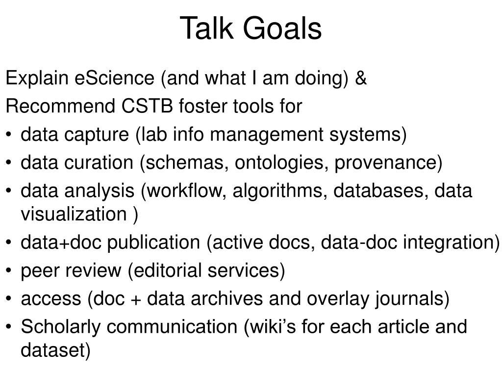 Talk Goals