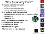 why astronomy data