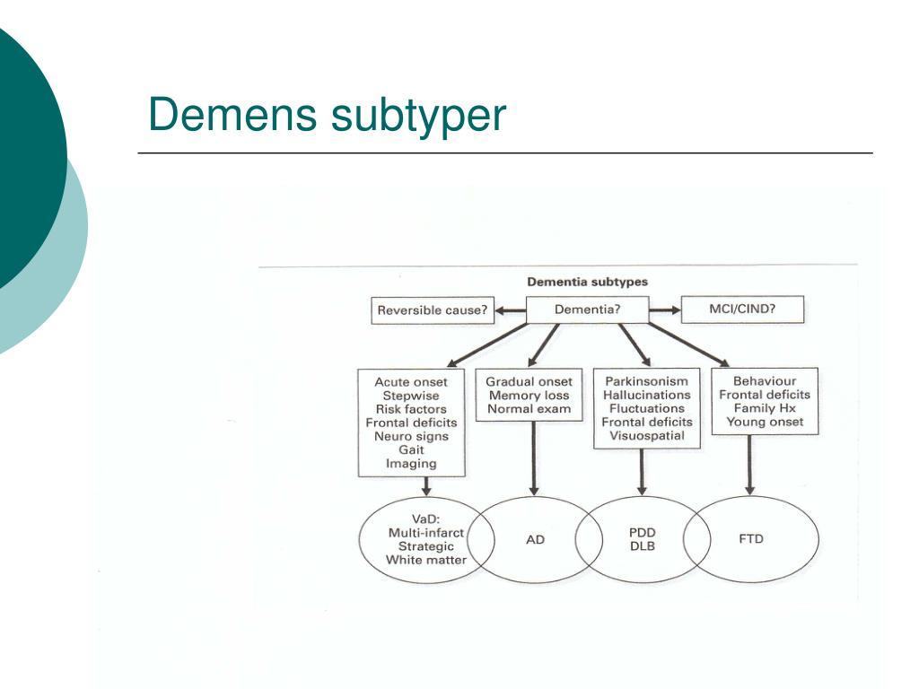 Demens subtyper