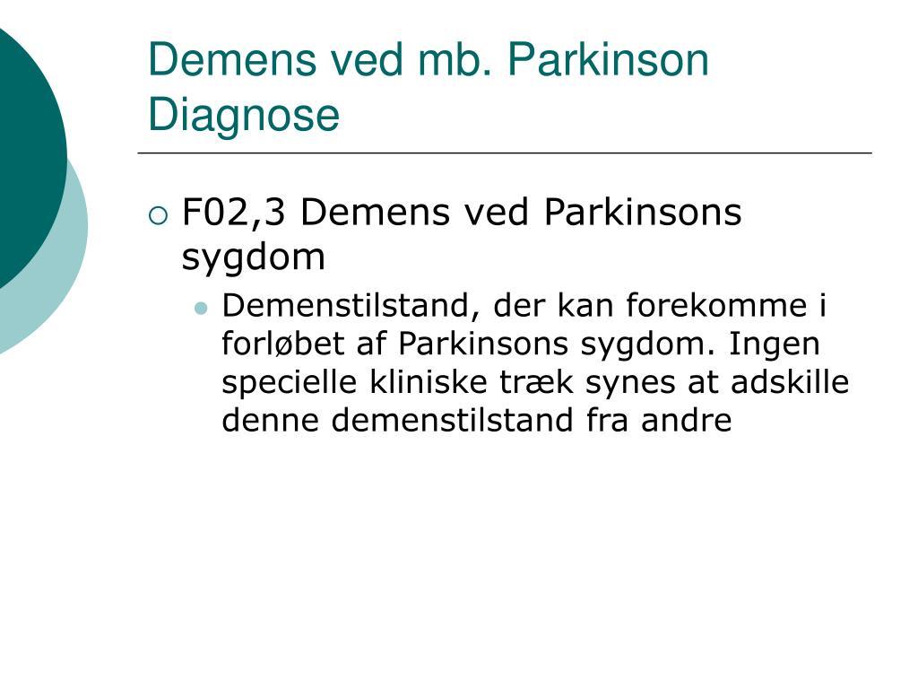Demens ved mb. Parkinson