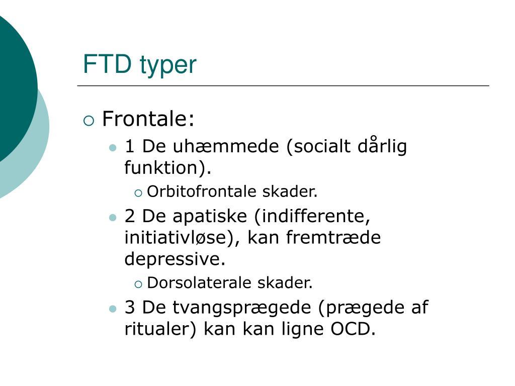 FTD typer