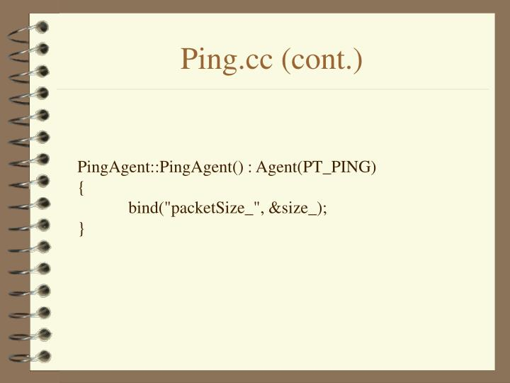 Ping.cc (cont.)