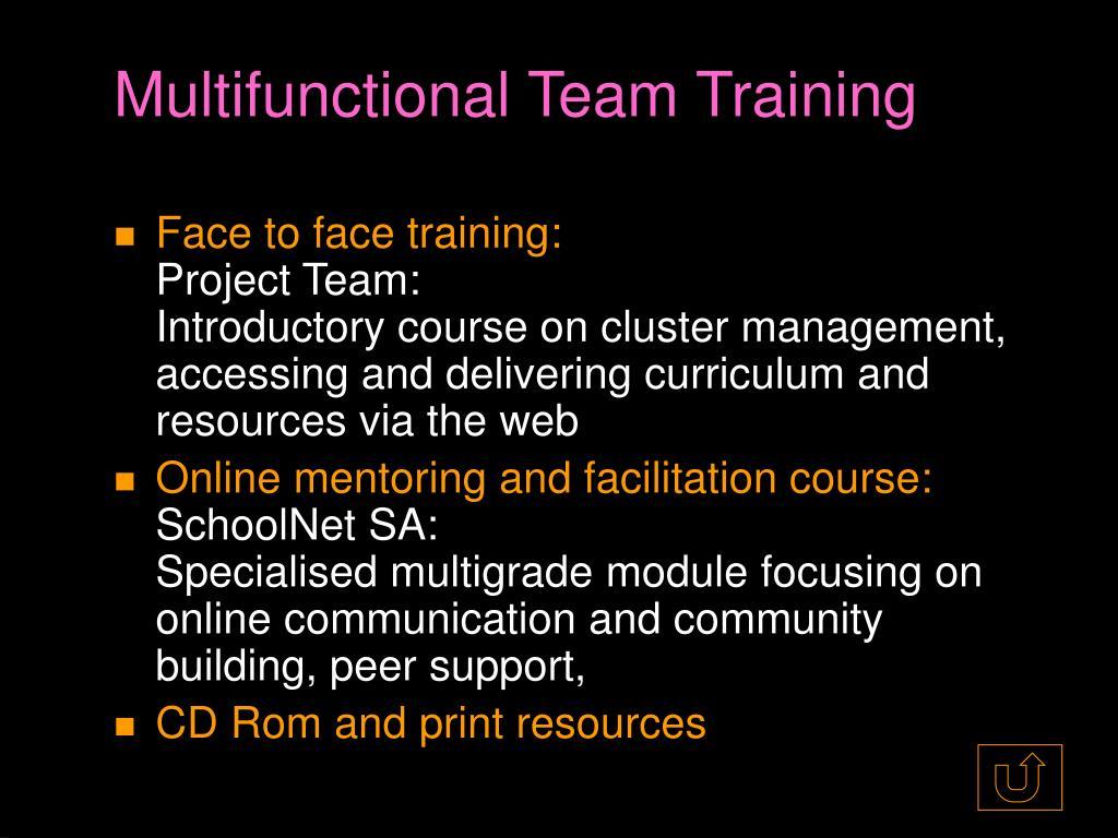 Multifunctional Team Training