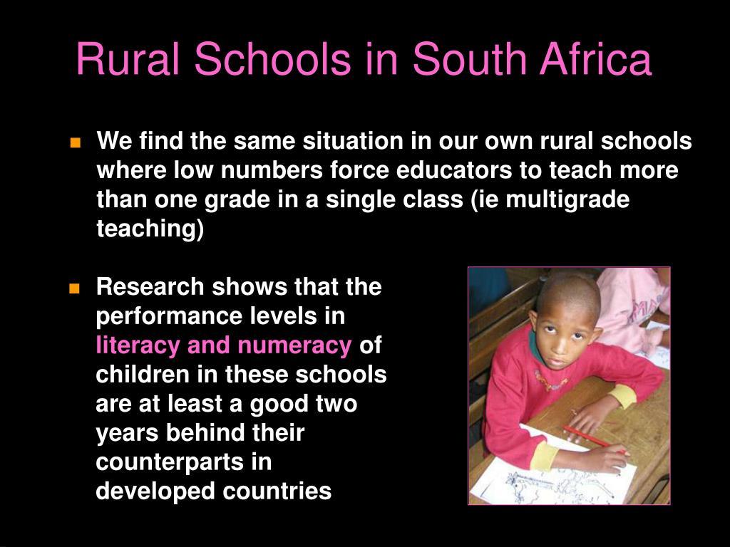 Rural Schools in South Africa