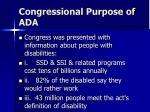 congressional purpose of ada