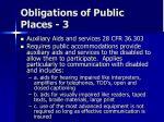 obligations of public places 3