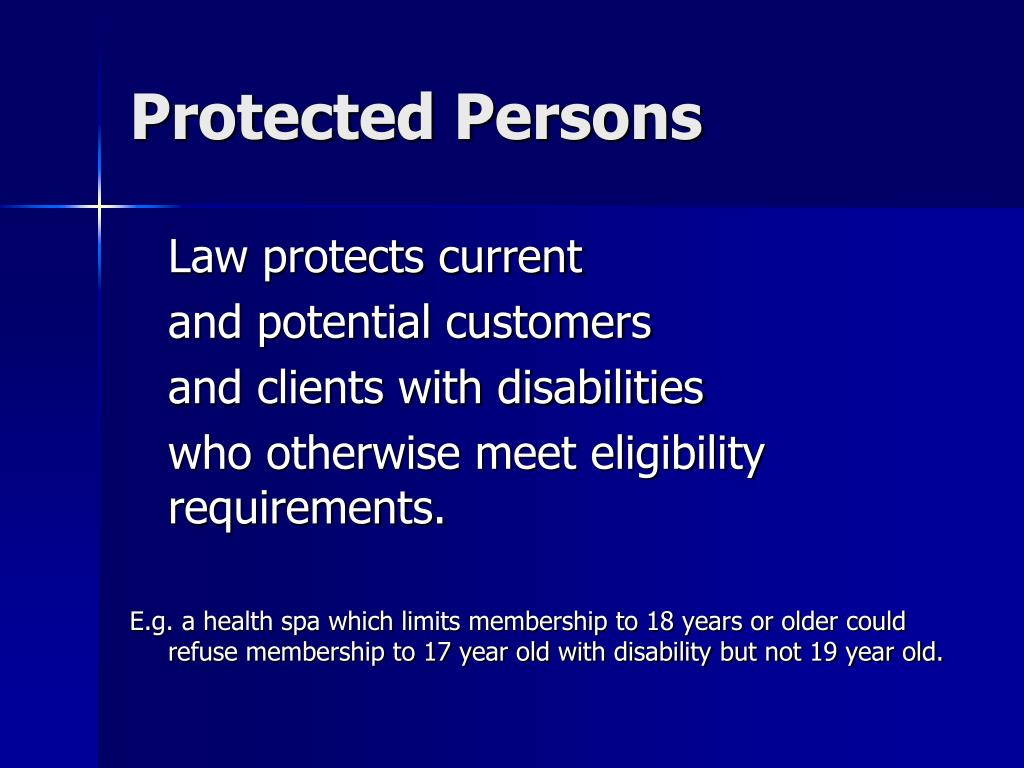 Protected Persons