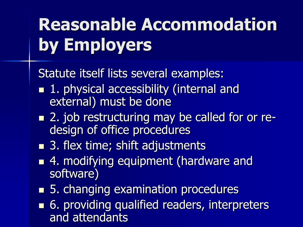 Reasonable Accommodation  by Employers