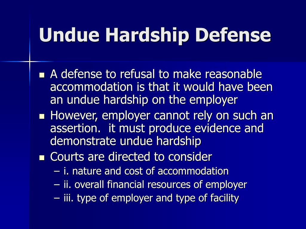 Undue Hardship Defense