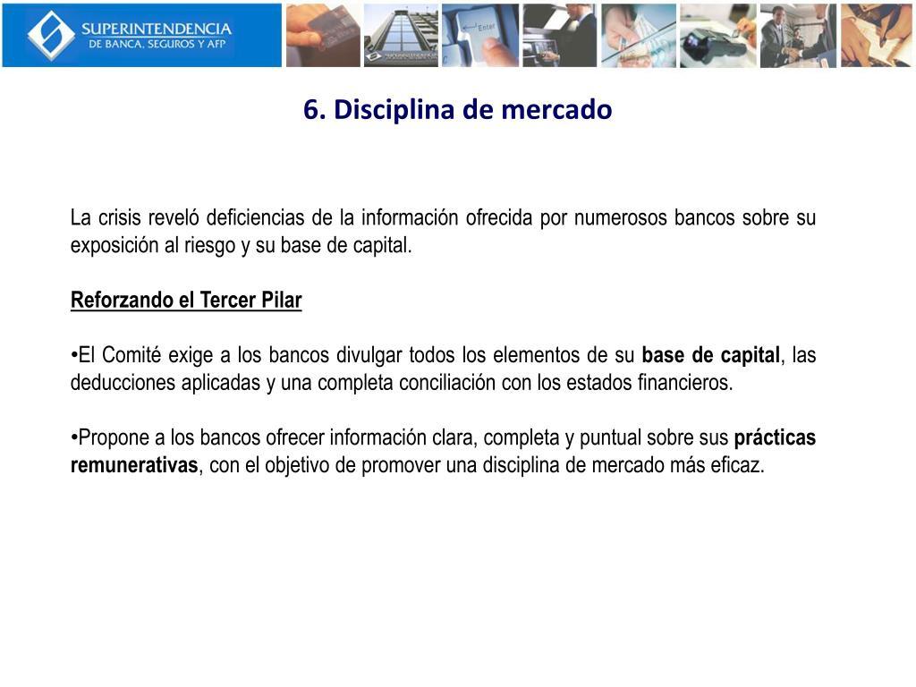 6. Disciplina de mercado