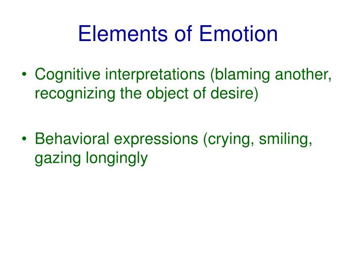 Elements of emotion3
