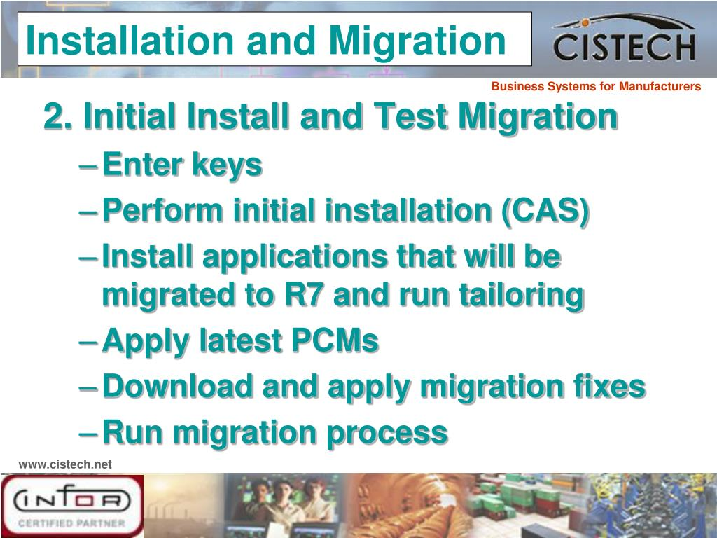 2. Initial Install and Test Migration