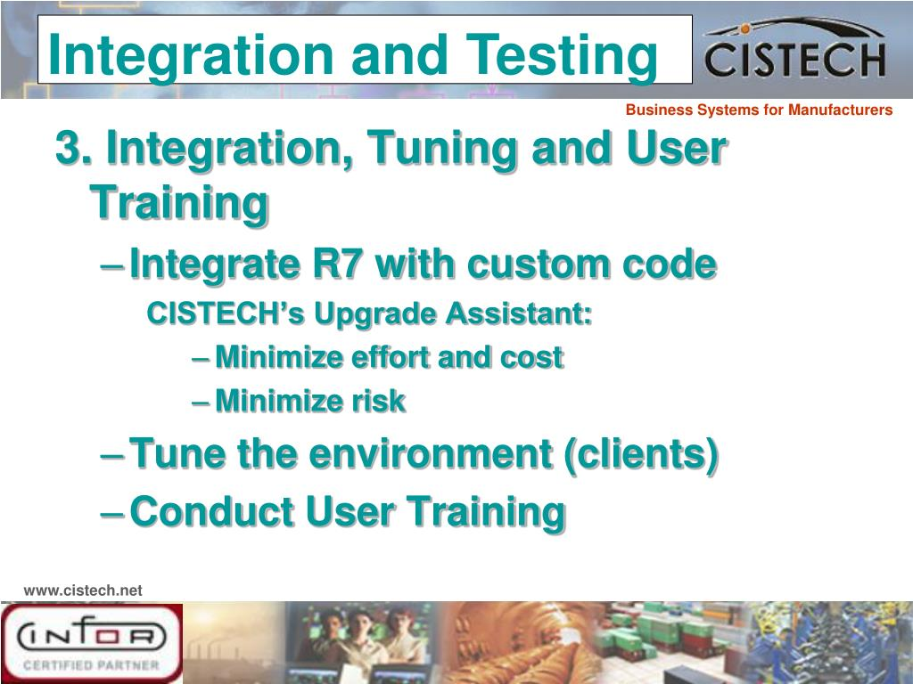 3. Integration, Tuning and User Training