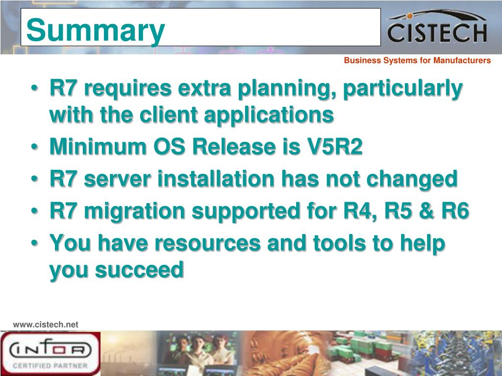 R7 requires extra planning, particularly with the client applications