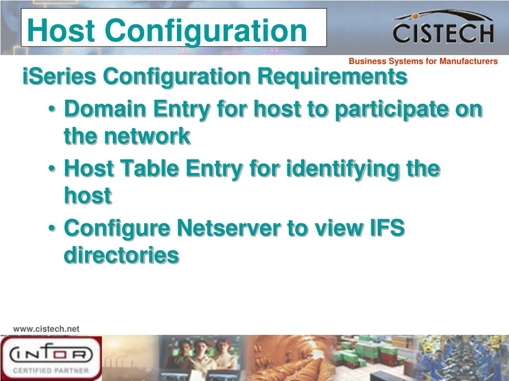 iSeries Configuration Requirements