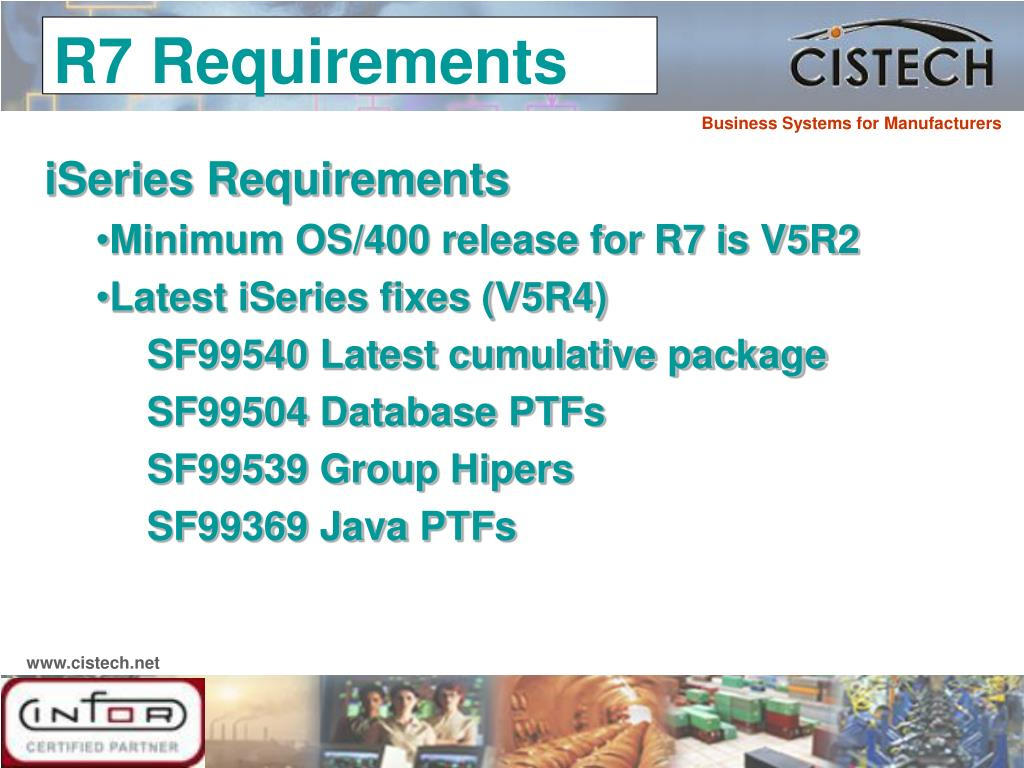 iSeries Requirements