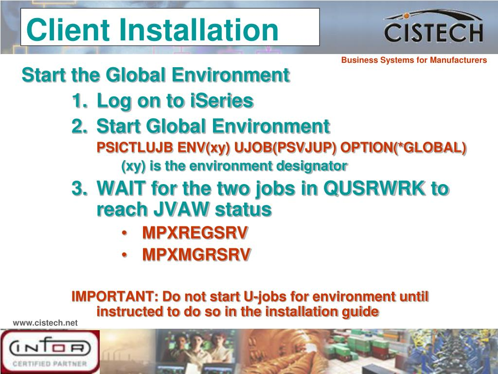 Start the Global Environment