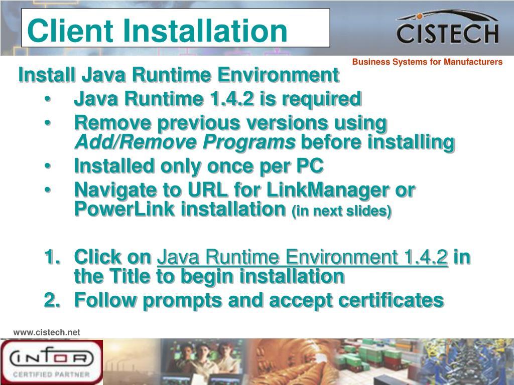 Install Java Runtime Environment