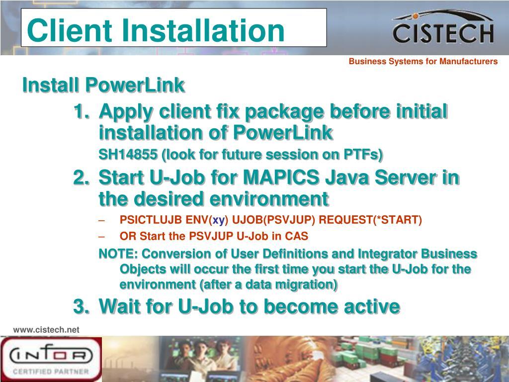 Install PowerLink