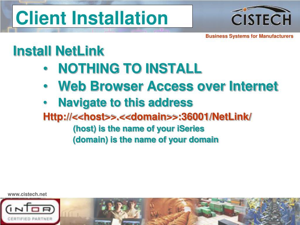 Install NetLink
