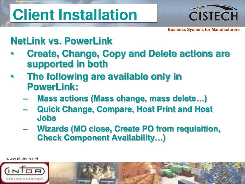NetLink vs. PowerLink