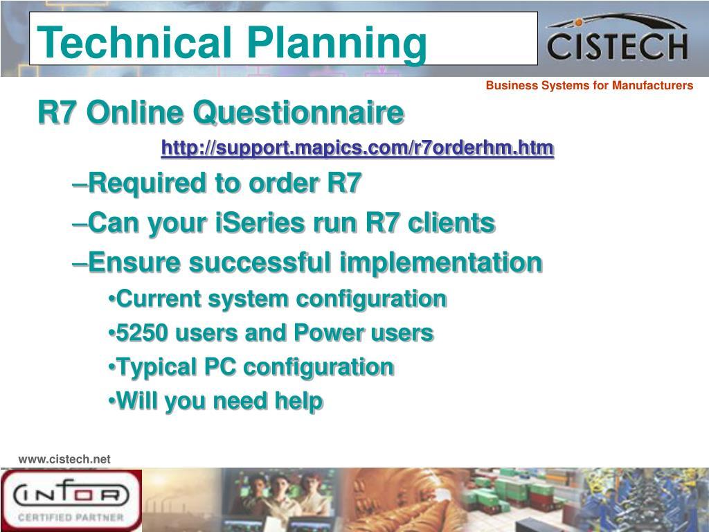 R7 Online Questionnaire