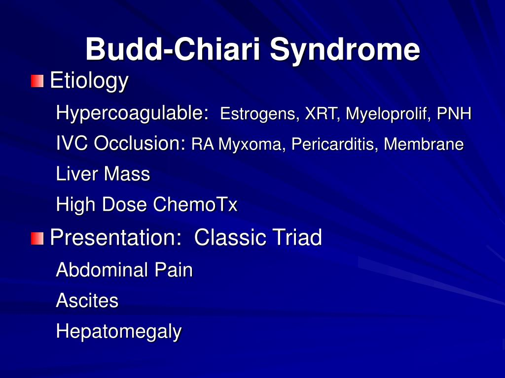 Budd-Chiari Syndrome