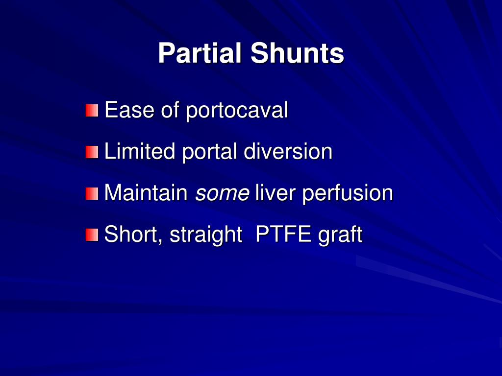 Partial Shunts
