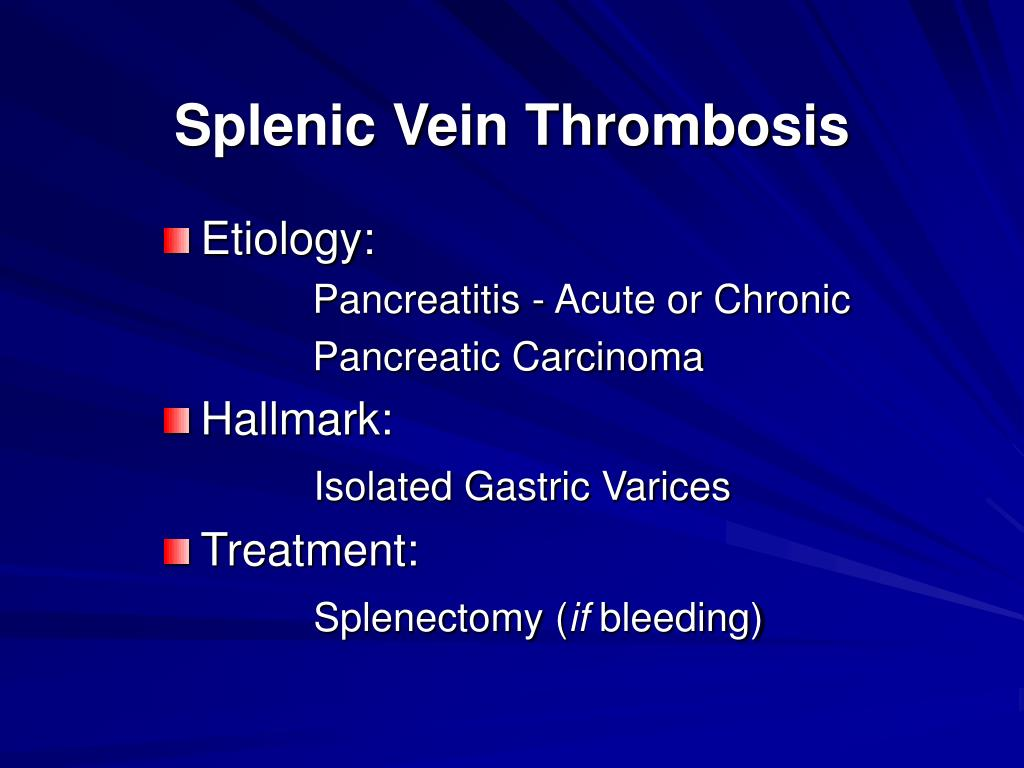 Splenic Vein Thrombosis