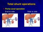 total shunt operations