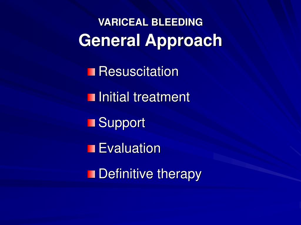 VARICEAL BLEEDING