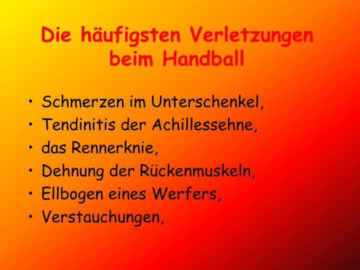 Die häufigsten Verletzungen beim Handball