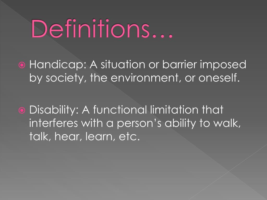 Definitions…
