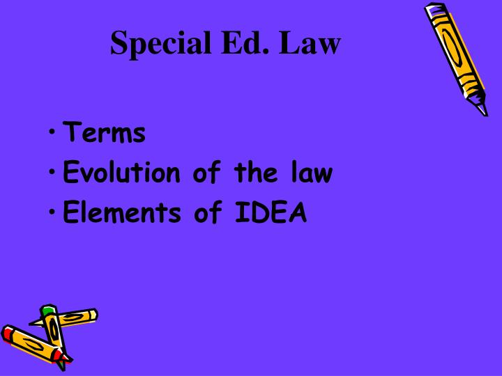 Special ed law