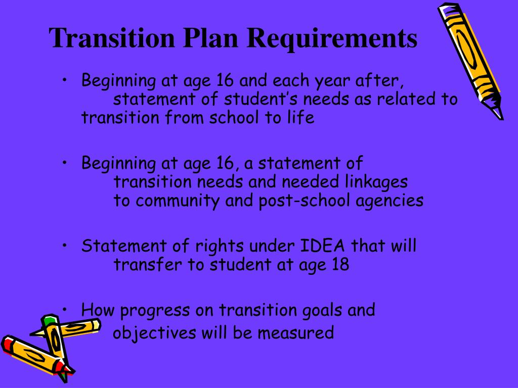 Transition Plan Requirements