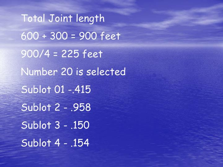 Total Joint length
