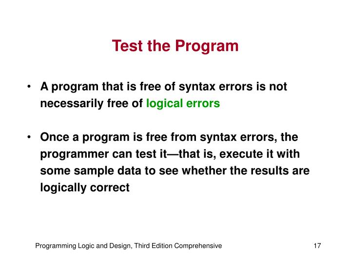 Test the Program