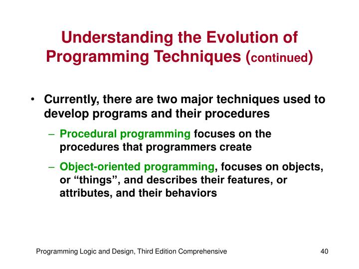 Understanding the Evolution of Programming Techniques (