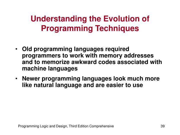 Understanding the Evolution of Programming Techniques
