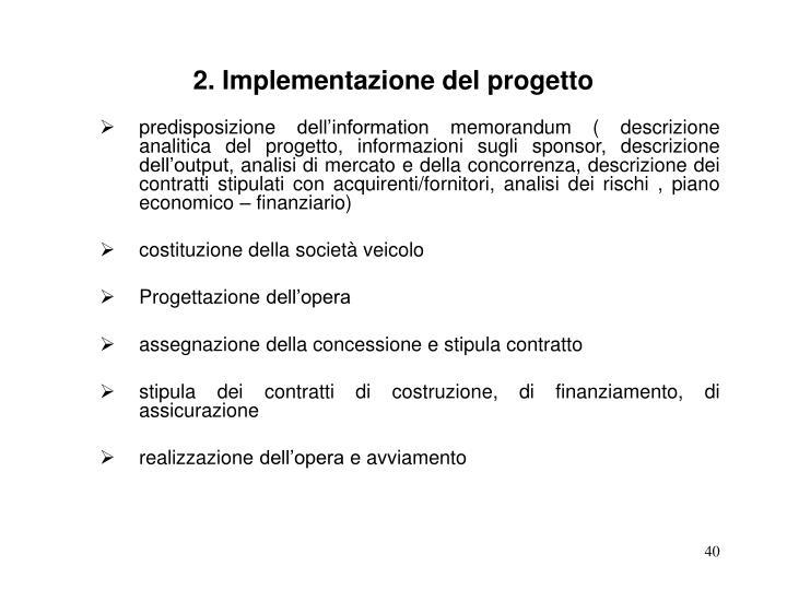 2. Implementazione del progetto