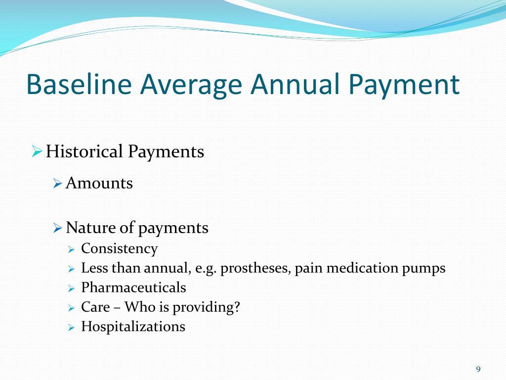 Baseline Average Annual Payment